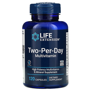 Life Extension, Two-Per-Day Multivitamin, 120 Capsules