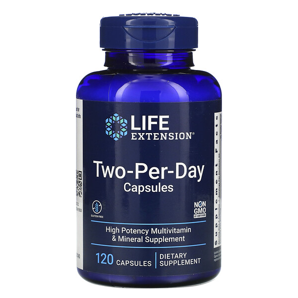 Life Extension, Capsules Two-Per-Day, 120 capsules