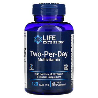 Life Extension, Two-Per-Day Multivitamin, 120 Tablets