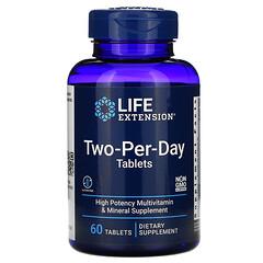 Life Extension, 每日兩片多維生素礦物營養片,60 片裝