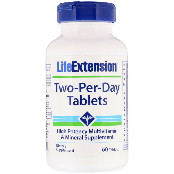 Life Extension, Two-Per-Day Tablets, 60 Tablets