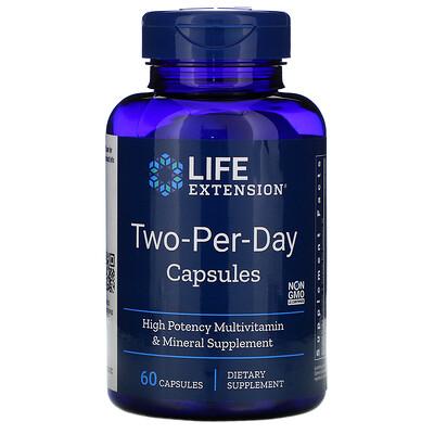 Купить Life Extension Капсулы Two-Per-Day для приема двух капсул в день, 60 капсул