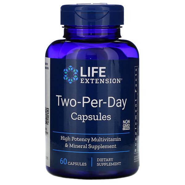 Capsules deux-par-jour, 60 capsules
