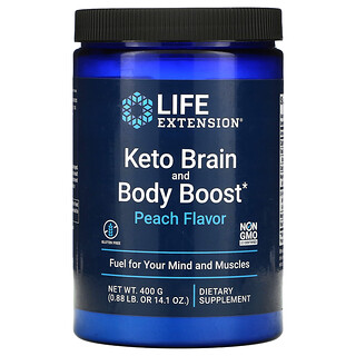 Life Extension, Keto Brain and Body Boost, Peach, 14.1 oz (400 g)