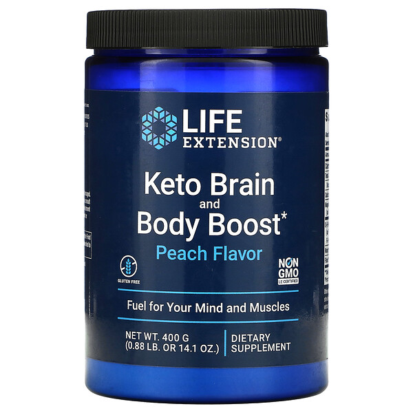 Keto Brain and Body Boost, Peach, 14.1 oz (400 g)