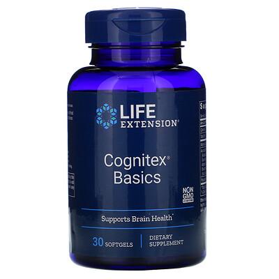 Купить Life Extension Cognitex Basics, 30 мягких желатиновых капсул