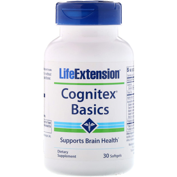 Life Extension,  Cognitex Basics, 30 כמוסות ג'ל