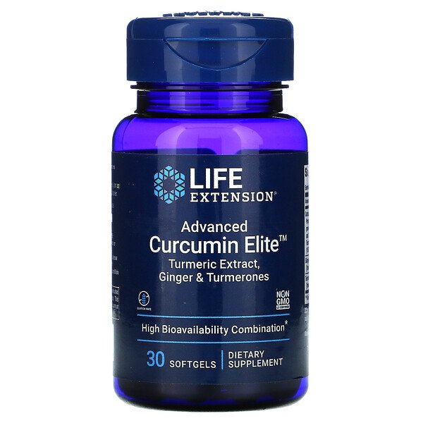 Advanced Curcumin Elite, Turmeric Extract, Ginger & Turmerones, 30 Softgels