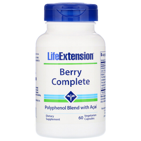 Life Extension, Berry Complete, 60 Vegetarian Capsules