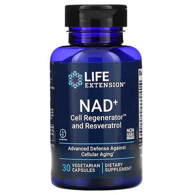 Купить Life Extension NAD+ Cell Regenerator and Resveratrol, 30 Vegetarian Capsules