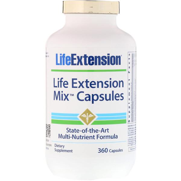 Life Extension, Смешанные капсулы, 360 капсул
