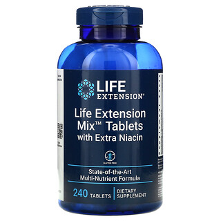 Life Extension, Life Extension Mix Tablets with Extra Niacin, 240 Tablets