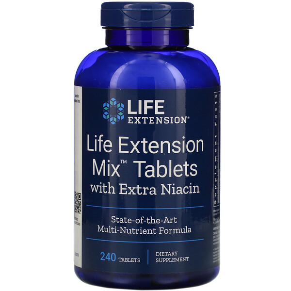 Life Extension Mix Tablets with Extra Niacin, 240 Tablets