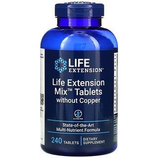 Life Extension, Comprimidos Mix sin cobre, 240comprimidos