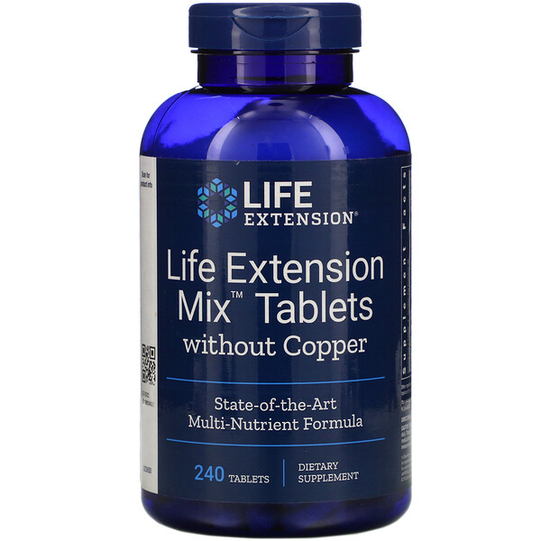 Life Extension Mix Tablets without Copper, 240 Tablets