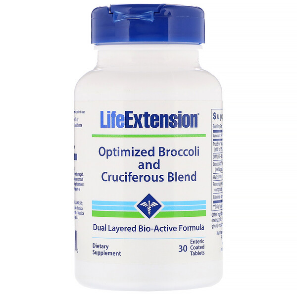 Optimized Broccoli and Cruciferous Blend, 30 Enteric Coated Tablets