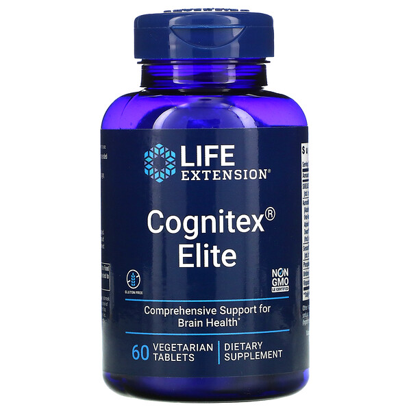 Life Extension, Cognitex Elite, 60 comprimidos vegetales