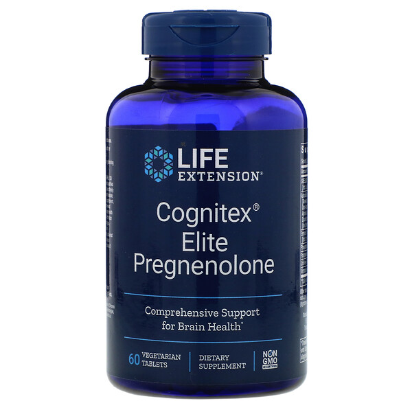 Cognitex Elite Pregnenolone, 60 Vegetarian Tablets