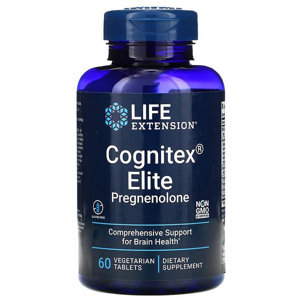 Cognitex Elite Pregnenolone, 60 Vegetarian Tablets