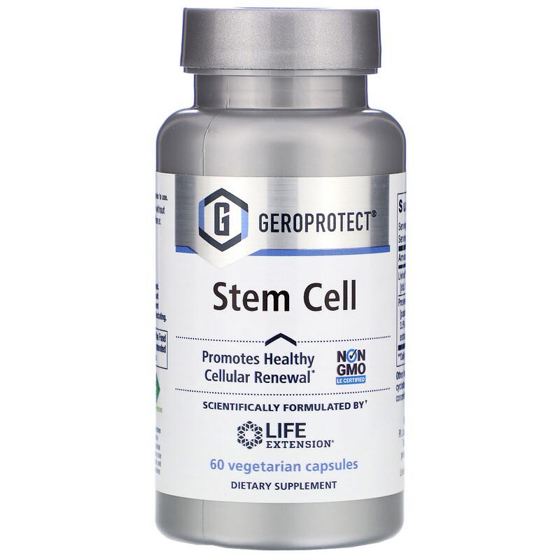Life Extension, Geroprotect,幹細胞,60 粒素食膠囊