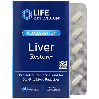 Купить Life Extension FLORASSIST Liver Restore, 60 Capsules