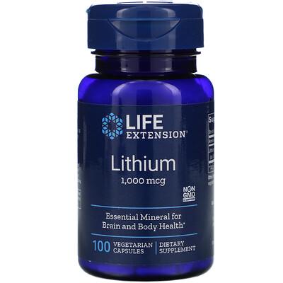 Life Extension Lithium, 1,000 mcg, 100 Vegetarian Capsules