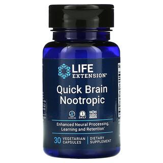 Life Extension, Quick Brain Nootropic, 30 Vegetarian Capsules