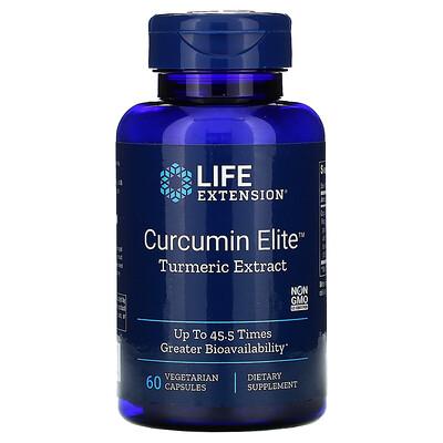 Купить Life Extension Curcumin Elite, экстракт куркумы, 60растительных капсул