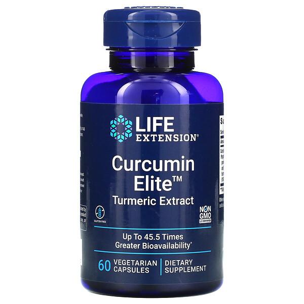 مستخلص الكركم Curcumin Elite، عدد 60 كبسولة نباتية