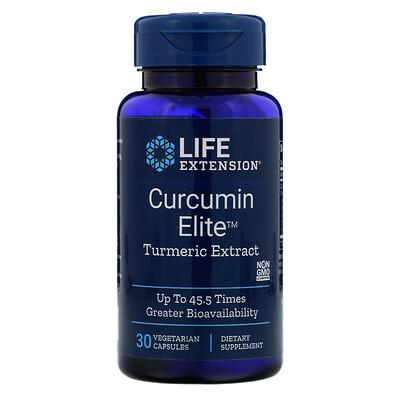 Купить Life Extension Curcumin Elite, экстракт куркумы, 30 растительных капсул