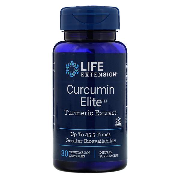 مستخلص الكركم من Curcumin Elite، عدد 30 كبسولة نباتية