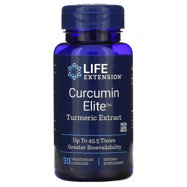 Curcumin Elite, Turmeric Extract, 30 Vegetarian Capsules