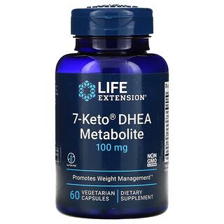 Life Extension, 7-Keto 脱氢表雄酮素食胶囊,100 毫克,60 粒素食胶囊