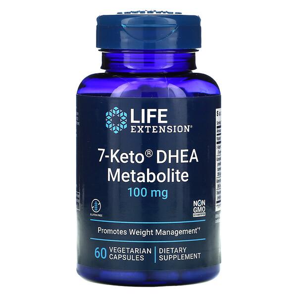 7-Keto DHEA، مستقلب، 100 مجم، 60 كبسولة نباتية