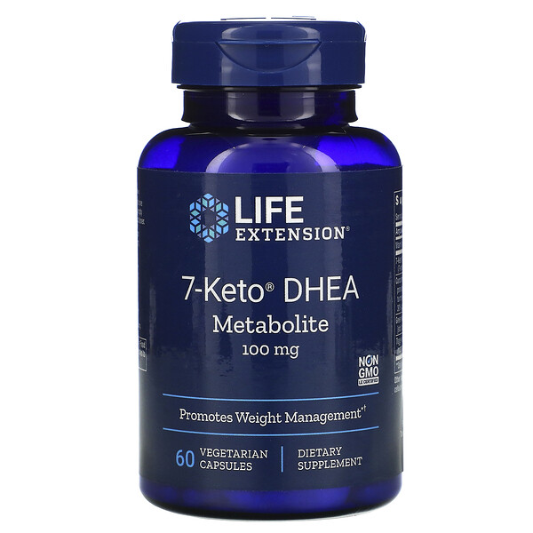 Life Extension, 7-Keto, ДГЭА, метаболит, 100мг, 60растительных капсул