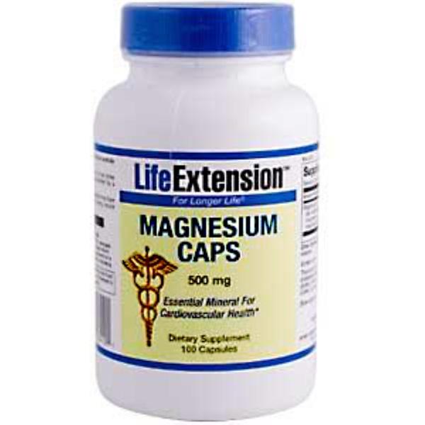Life Extension, Magnesium Caps, 500 mg, 100 Capsules (Discontinued Item)