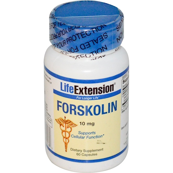 Life Extension, Forskolina, 10 mg, 60 Capsulas (Discontinued Item)