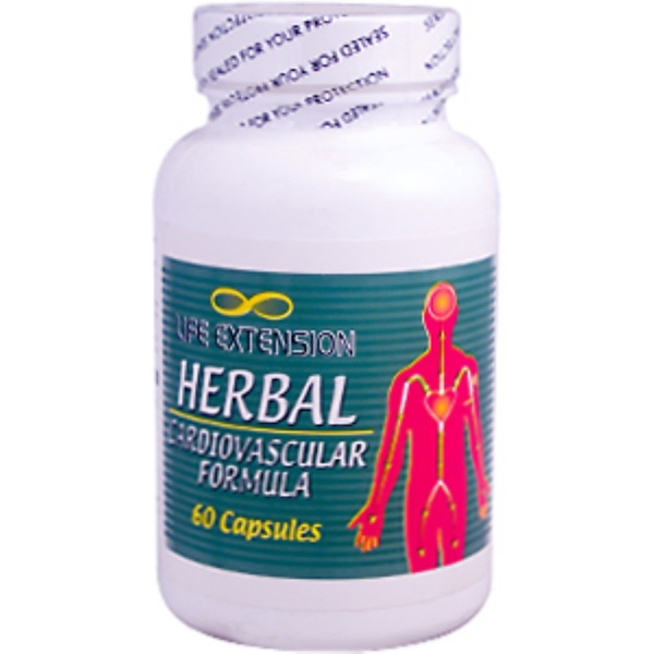 Life Extension, Herbal Cardiovascular Formula, 60 Capsules (Discontinued Item)