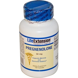 Life Extension, Pregnenolone, 50 mg, 100 Capsules