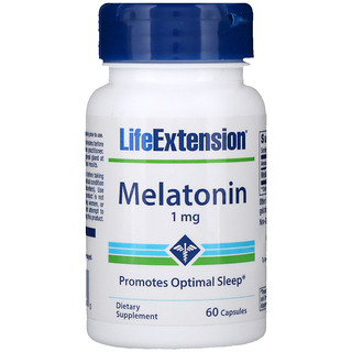 Life Extension, Mélatonine, 1 mg, 60 Gélules