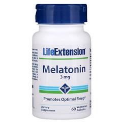Life Extension, Melatonina, 3 mg, 60 cápsulas