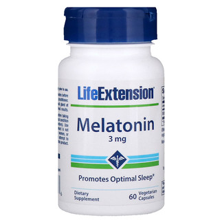 Life Extension, Mélatonine, 3 mg, 60 Gélules