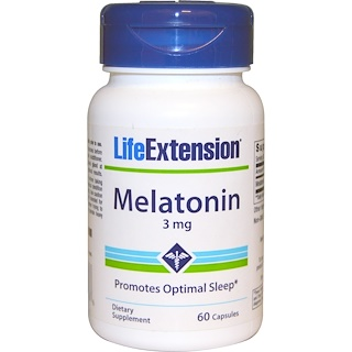 Life Extension, Melatonin, 3 mg, 60 Capsules
