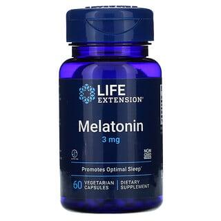 Life Extension, Melatonin, 3 mg, 60 Vegetarian Capsules