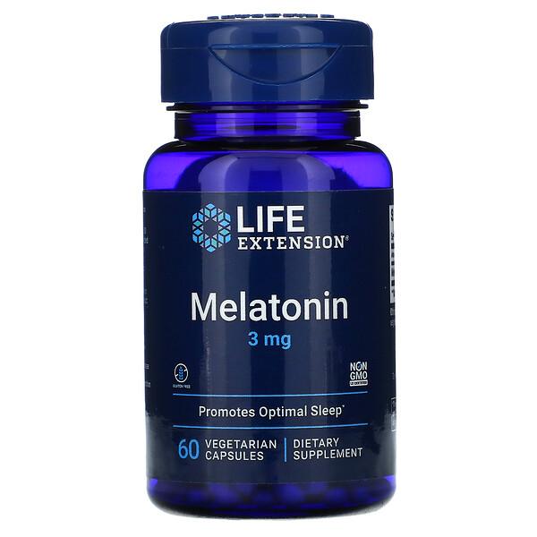 Melatonin, 3 mg, 60 Vegetarian Capsules