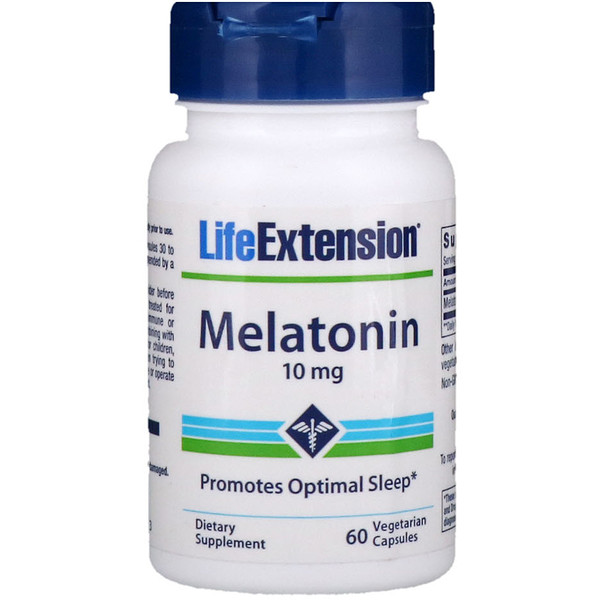 Life Extension, Melatonin, 10 mg, 60 Vegetarian Capsules