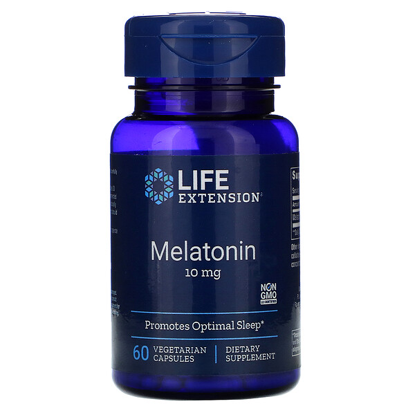 Melatonin, 10 mg, 60 Vegetarian Capsules