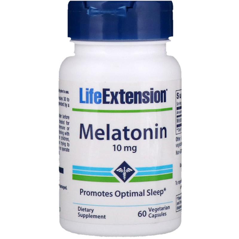 Life Extension, 褪黑激素,10毫克,60粒素食膠囊