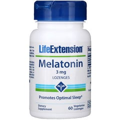 Life Extension, Melatonin, 3 mg, 60 Lozenges
