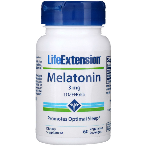 Life Extension, Melatonin, 3 mg, 60 Vegetarian Lozenges